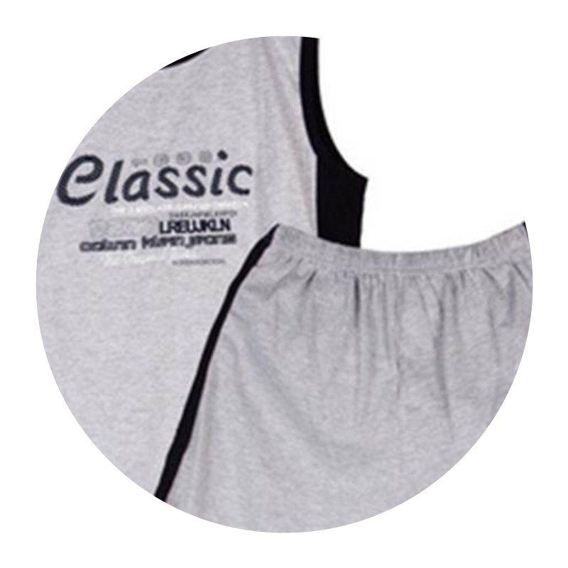 Mens pajamas summer vest summer short sleeve youth thin oversize mens home k-bedroom sleeveless suit