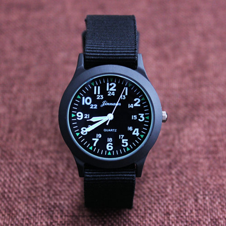 New childrens watch primary and secondary school boys middle school waterproof quartz watch canvas childrens fashionable watch