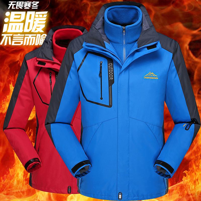 外套冲锋衣男服装户外抓绒工装潮滑雪服2020韩国骑车棉袄薄款登山