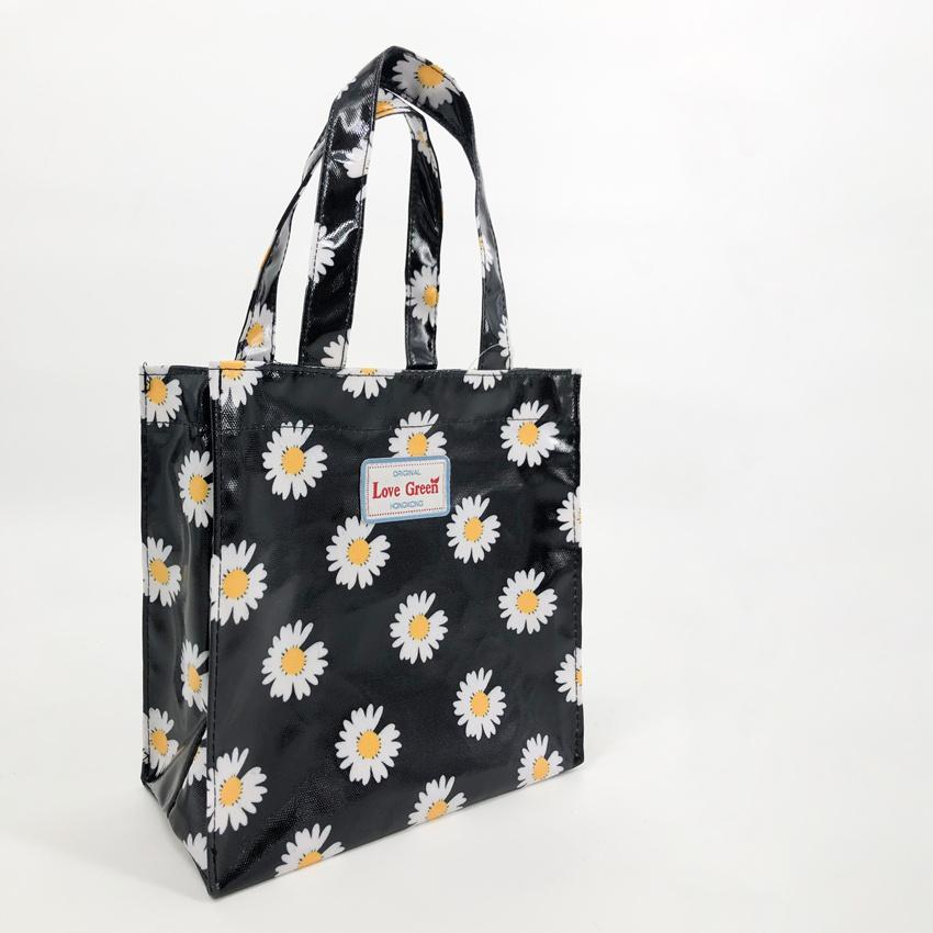 防水ファスナーのズックのショルダーバッグ学生カバンの復古の小花のショッピングバッグ
