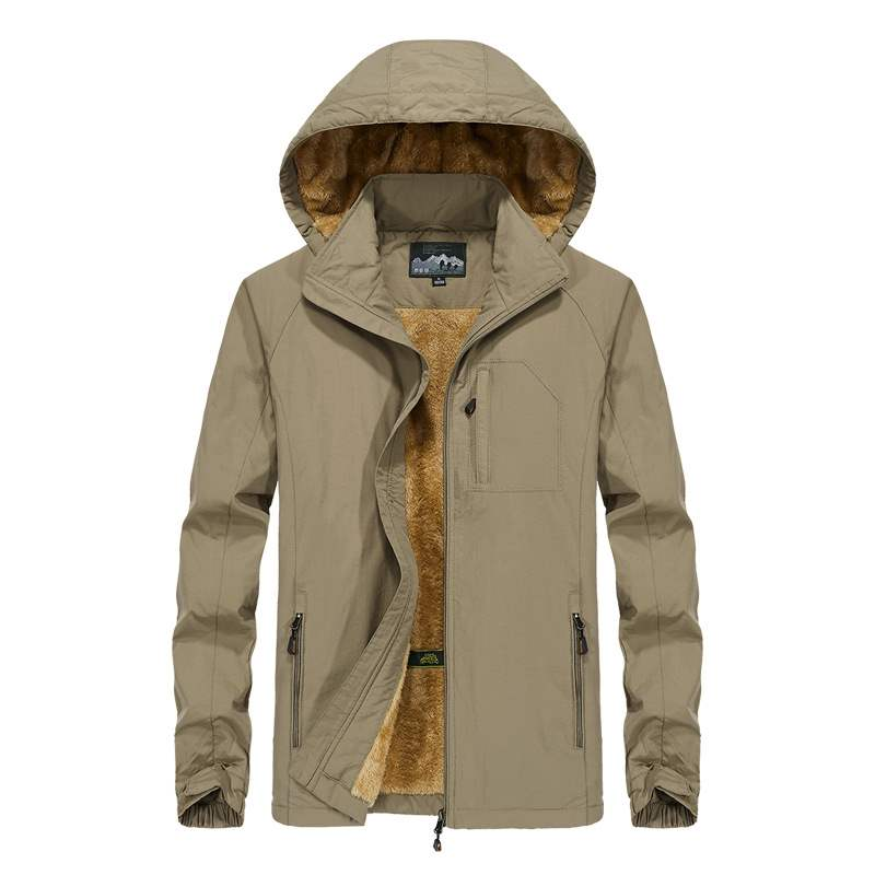 Mens outdoor sports jacket in autumn and winter