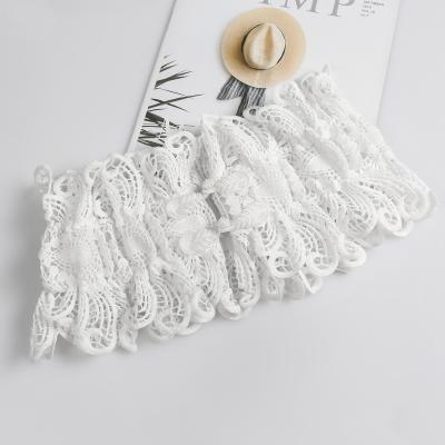 Trendy womens lace waistband lace cut out breathable ultra wide elastic embroidered belt skirt waist embroidered decoration