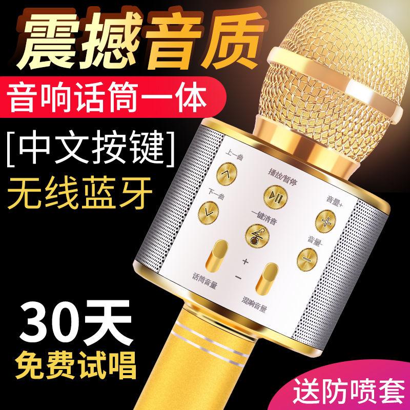 全民K歌麦克风蓝牙话筒无线家用ktv手机唱歌神器变声音响一体通用
