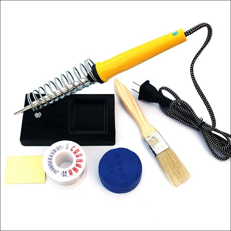 25W internal thermoelectric soldering iron set household maintenance welding tool electric mule iron constant temperature soldering iron frame soldering wire is loose.