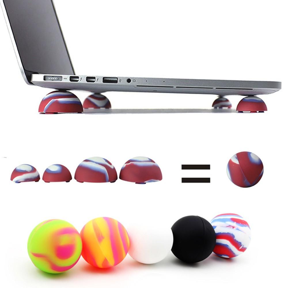 配件散热电脑垫现代小巧散热球笔记本脚垫加高倾斜硅胶撑架垫高