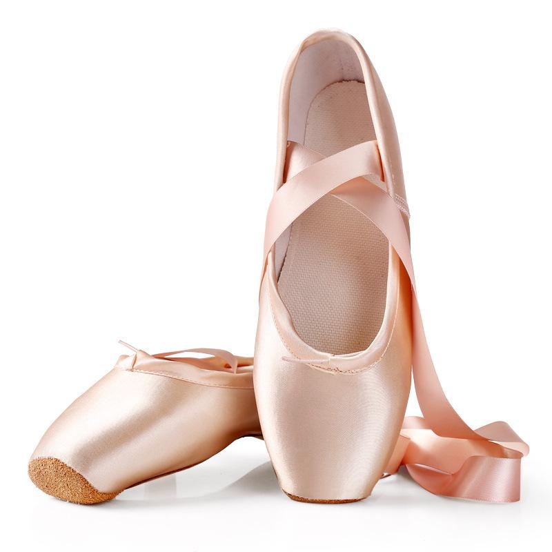 。芭蕾鞋舞鞋K专业足尖女童鞋儿童脚尖缎舞蹈绑带成人初学者面