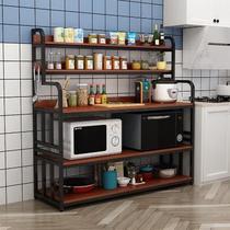 廚房桌切菜桌廚房置物架多功能操作臺簡易小長桌家用多層桌子定做