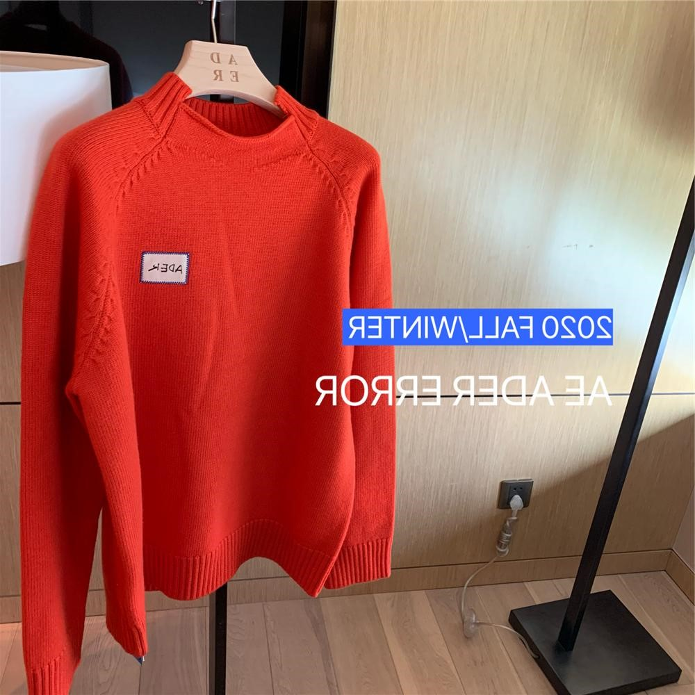 Ader fall / winter 2020 new wool basic label sweater womens loose fitting out couples fashionable sweater