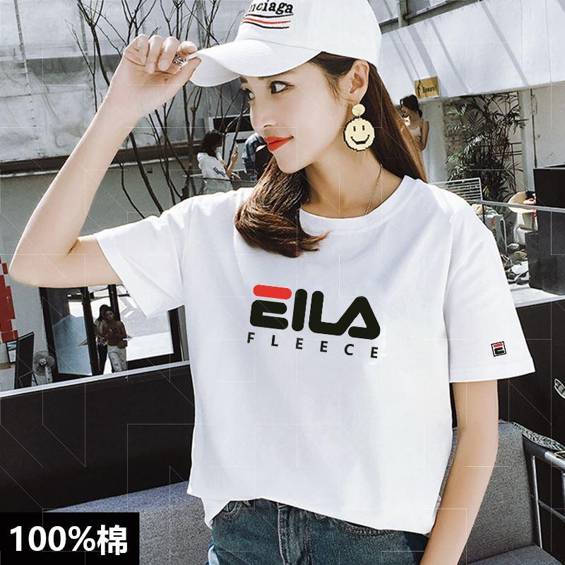 夏季纯棉T恤女韩版宽松半袖圆领大码男女情侣装休闲白色短袖上衣