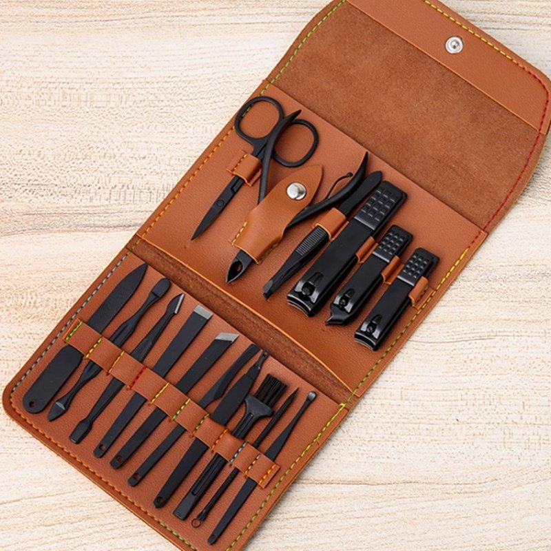 Stainless steel nail clipper set 7-piece set custom logo beauty Manicure Pedicure knife manicure scissors care tool