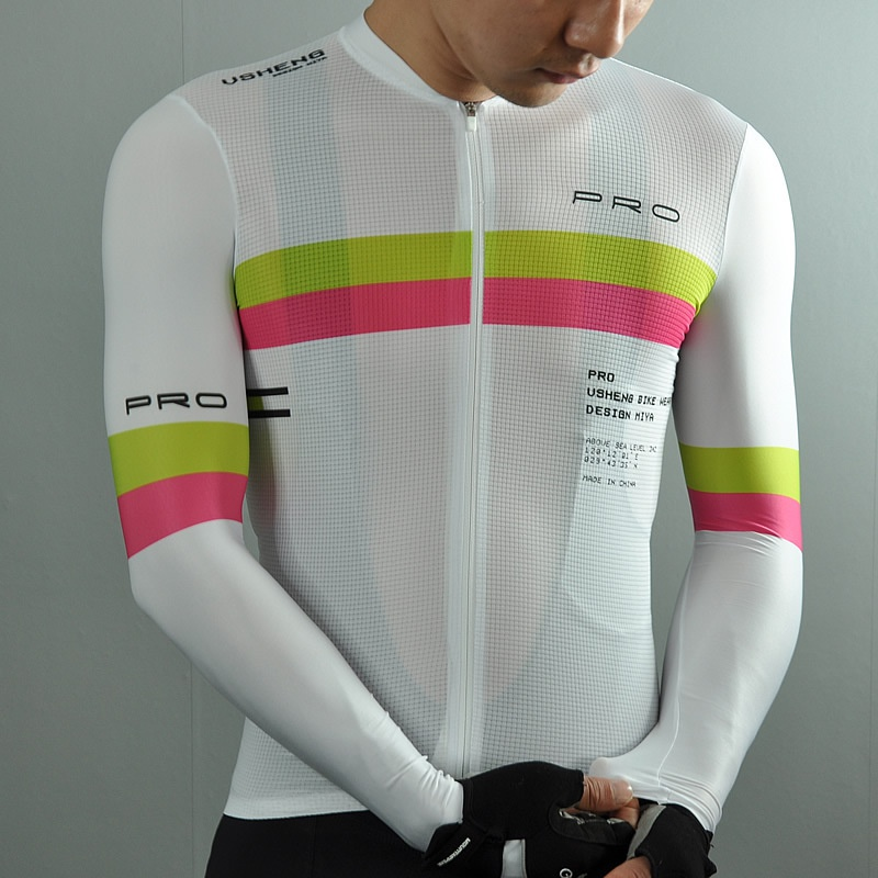 Mia Pro competition summer and autumn long sleeve mens and womens cycling wear breathable road car MITI noodles in Italy.