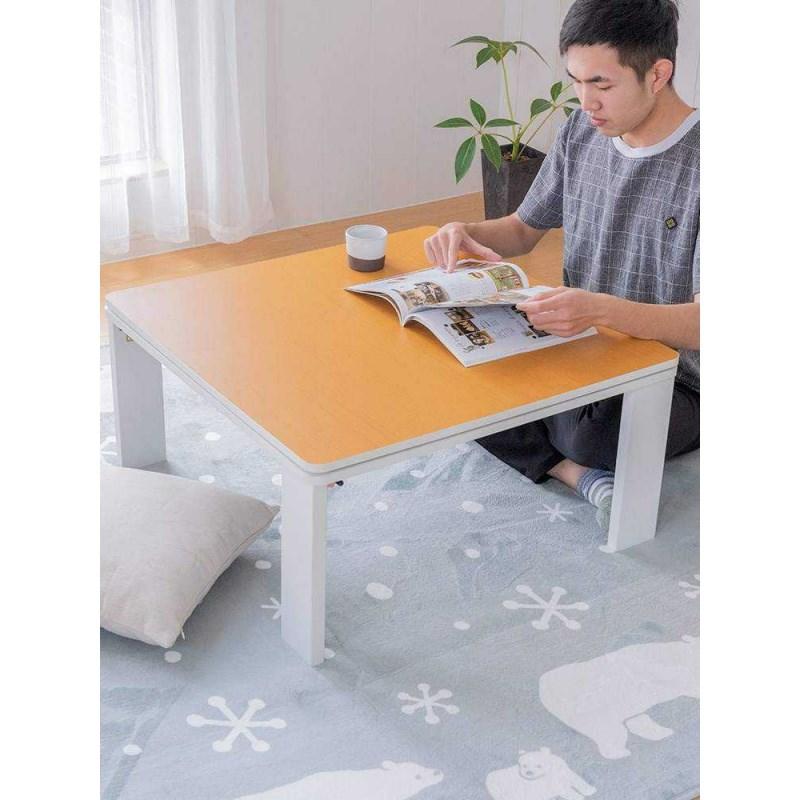 こたつ折叠桌子收纳取暖桌和室矮被炉榻榻米茶几日式几桌暖桌-。