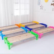 。实用单层午托儿童床叠加幼儿园小床加厚材质木质护栏带木头叠。