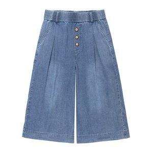 韩版潮流牛仔夏薄款宽松复古七分裤