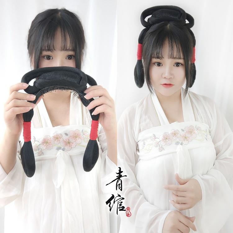 Authentic ancient Hanfu contract hair comb wig one novice hand remnant party bun lazy simple ancient style