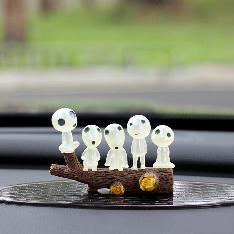 高档幽灵公主阿席达卡夜光树木精灵微景观树脂汽车载摆件手办模型
