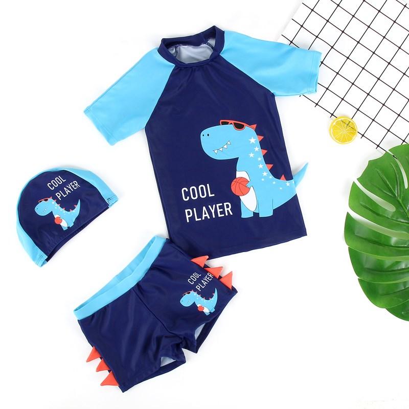 儿童y泳衣男童泳裤小中大童分体游泳衣男孩宝宝大码速干游泳套。
