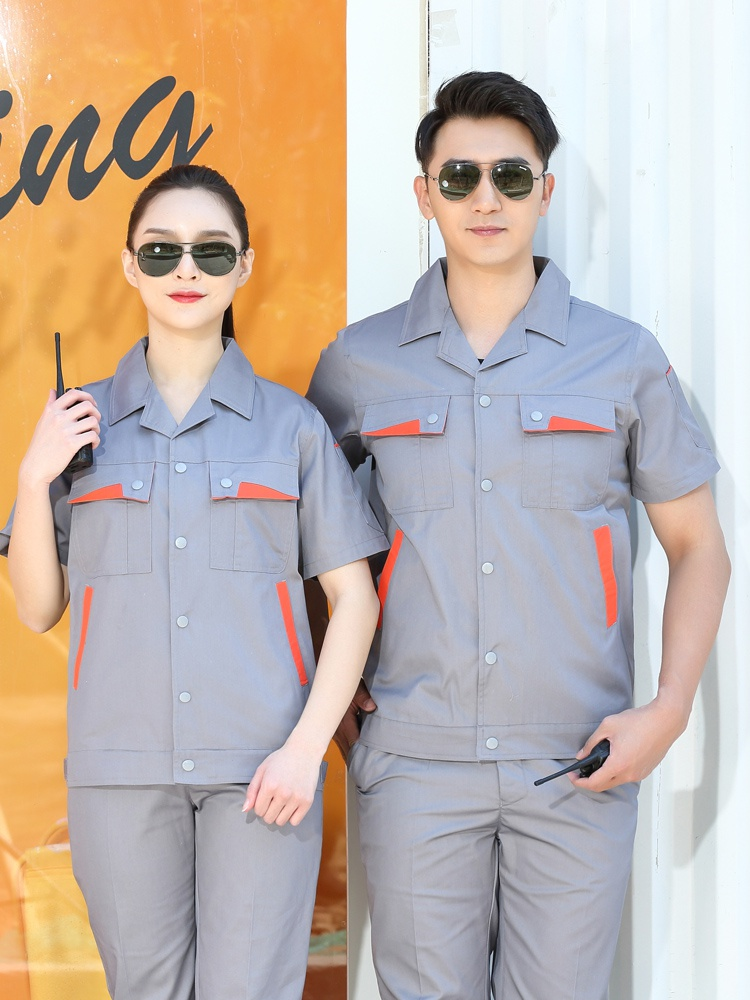 Genuine engineering clothes, summer clothes, electrician clothes, short sleeve maintenance clothes, hotel work clothes, factory repair clothes, work clothes, mens uniform