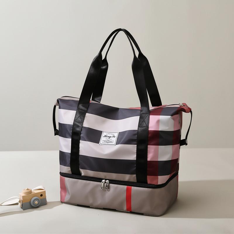 手提行李包女轻便大容量短途时尚旅行旅游收纳袋装衣服可套拉杆箱