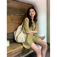 查看任小艺Lit e mode高级感女士休闲短袖西装外套女夏季2021新款薄款价格