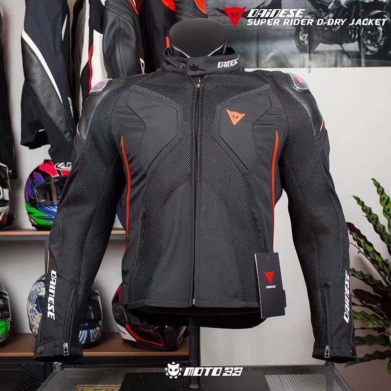Genuine Denis motorcycle waterproof, breathable, fall proof, rain proof four seasons leather clothes net clothes Motorcycle Racing Jacket riding