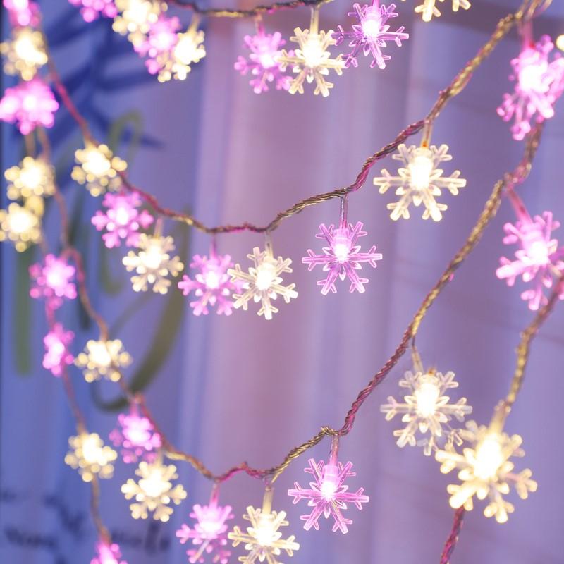 タオバオ仕入れ代行-ibuy99 LED灯 小房间改造用品网红出租房led雪花星星彩灯满天星闪灯串装饰灯