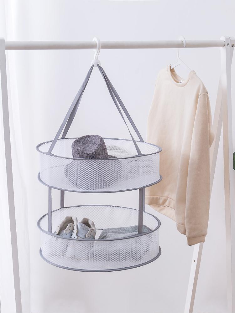 晒衣篮晾衣网篮内衣袜子毛衣毛绒玩具专用晾衣架衣物平铺晾晒网兜