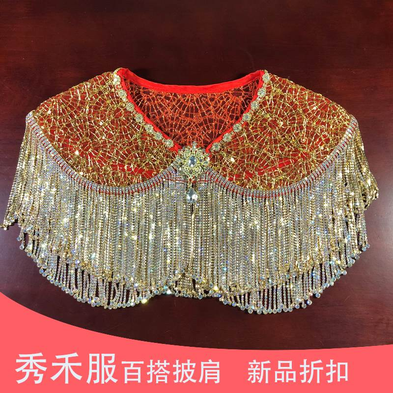 Brides showcoat shawl tassel 2020 new dragon and Phoenix Jacket Womens Chinese dress toasting suit shawl shoulder chain inlaid with diamond