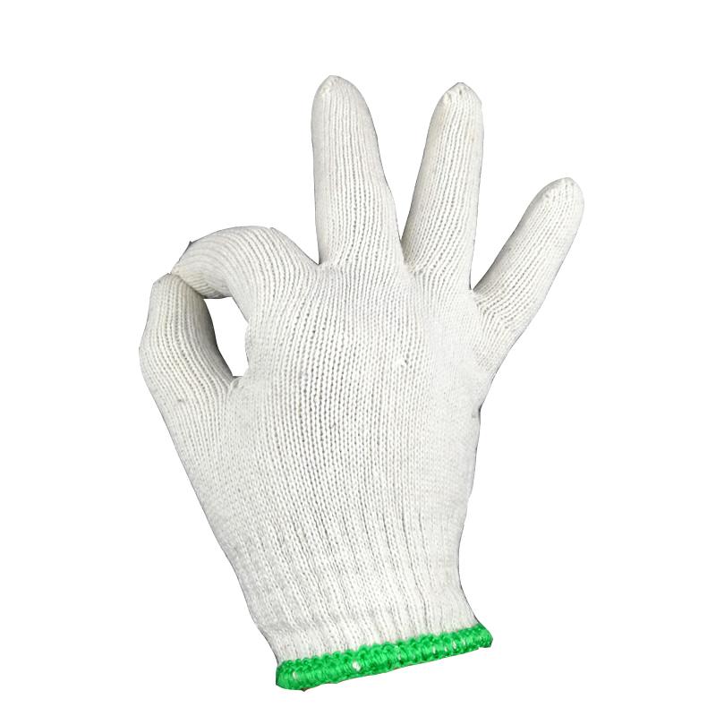 线手套棉线整包加厚耐磨尼龙手套工人干活防护纱手套大包劳保手套