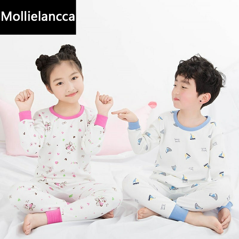 。 3-17 years old childrens underwear set pure cotton mens and womens autumn clothes, autumn pants, middle school childrens high and low collar cotton sweater home