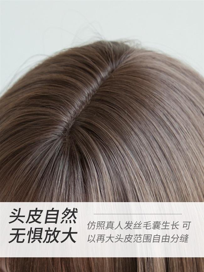 かつらの女の長い髪の王女は切ってかわいくて、洛麗塔ネットの赤い中で長い髪の毛の内でボタンをかけて顔の姫の髪型の全髪の毛のカバーを修理します。