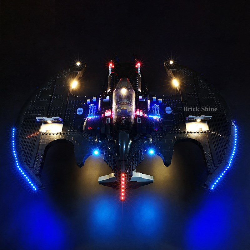 76161 supporting bat light Batman led fighter applicable light building blocks 1989 LEGO BS wing lamps