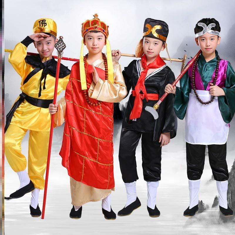 開票ブタの八戒は服装の86版の西遊記の人物の子供版の道具の服の役を演じて師弟の4人を演じます。
