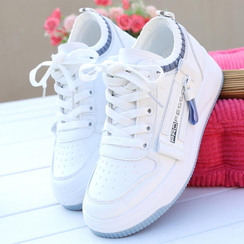 学生鞋板透气小女鞋厚底2021白薄款搭网夏季百鞋运动鞋新款白色鞋