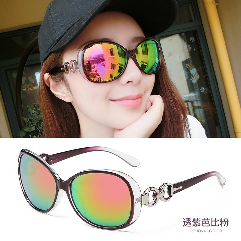 姐妹女士优雅可爱镜面白边眼镜运动电车目镜墨镜简约太阳镜