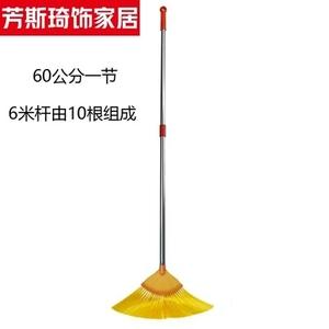 可伸缩加长柄扫蜘顶吊顶天花板扫把家用除尘天花扫屋蛛网清洁刷。
