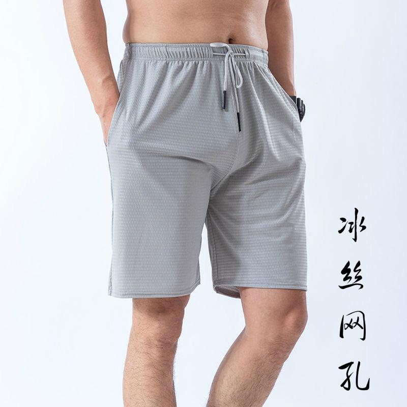 冰丝空调短裤男薄款运动休闲五分裤网眼夏季跑步健身篮球速干外穿