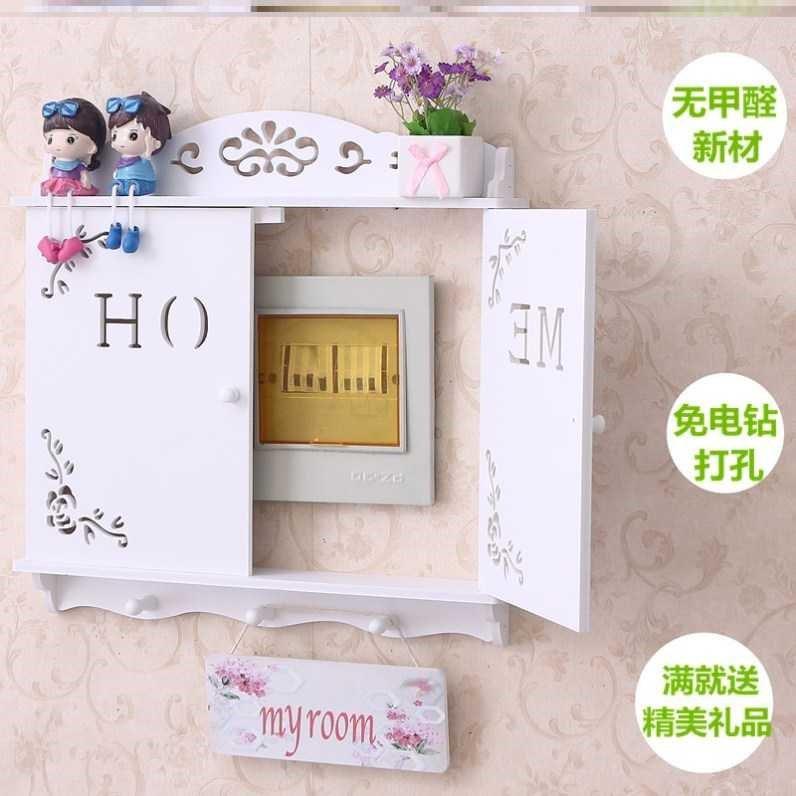 电闸箱立体盒子创意电表箱装饰画新中式风格配电箱个性卡通后现。