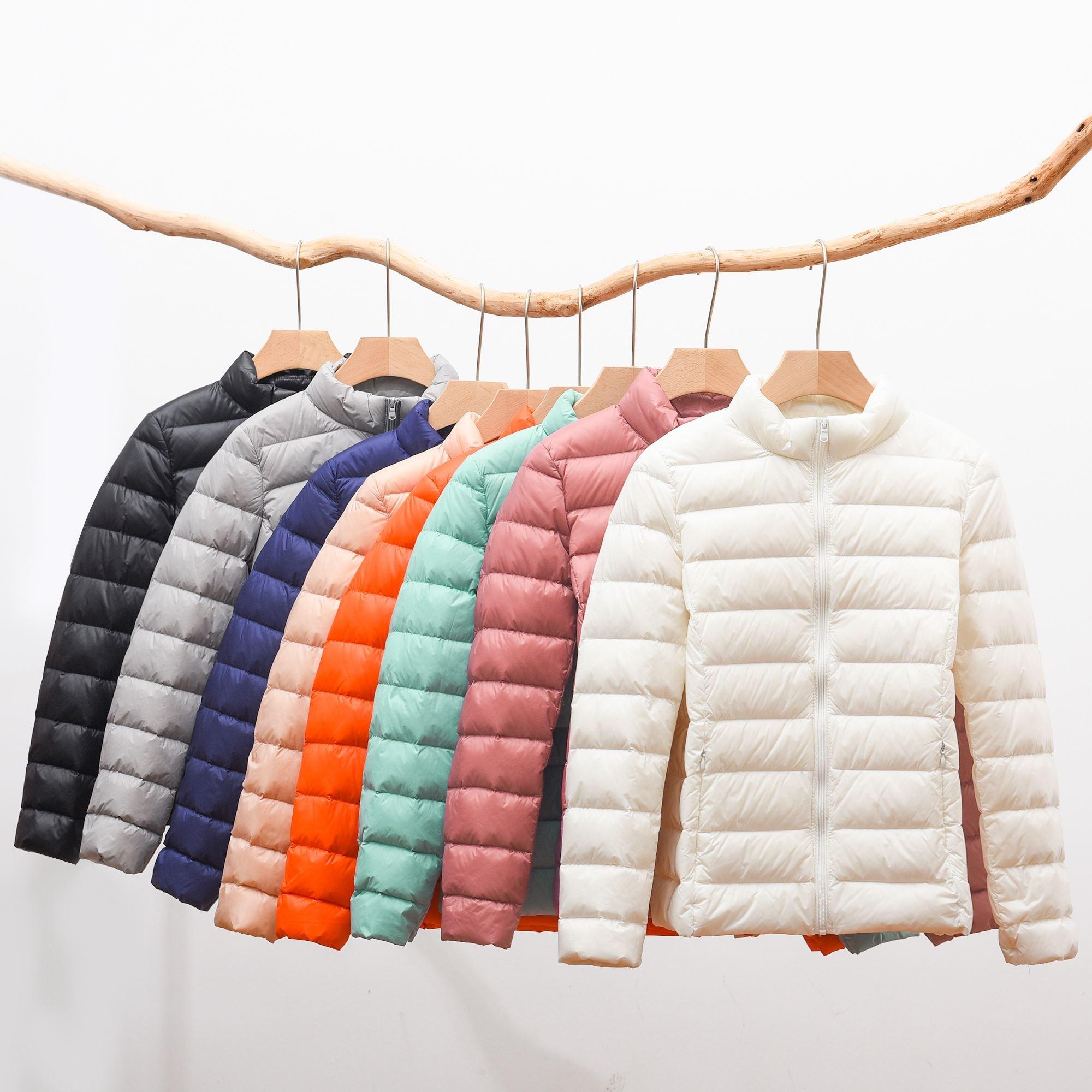 北面人产出口哥伦比亚秋冬季男女短款轻薄鸭绒羽绒服外套立领棉服