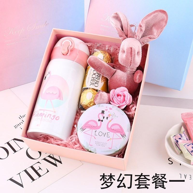 中國代購|中國批發-ibuy99|���������|创意装杯子一个浪漫礼品女生礼物保温杯个性套装送生日精美礼盒。