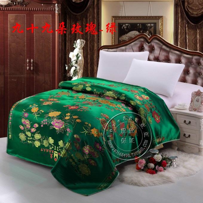 新品实物拍摄婚庆被面七彩杭州丝绸织锦缎被面子老式被面