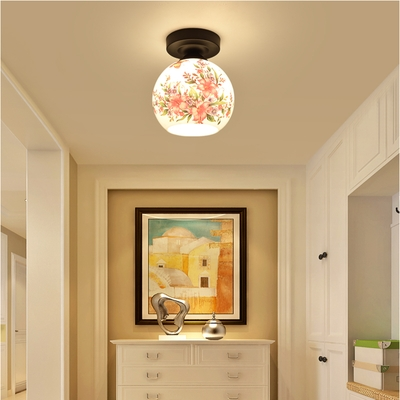 。 Home decoration storeroom atmosphere round lamp storefront teahouse lamp toilet lamp teahouse ceiling lamp family corridor lamp Festival.