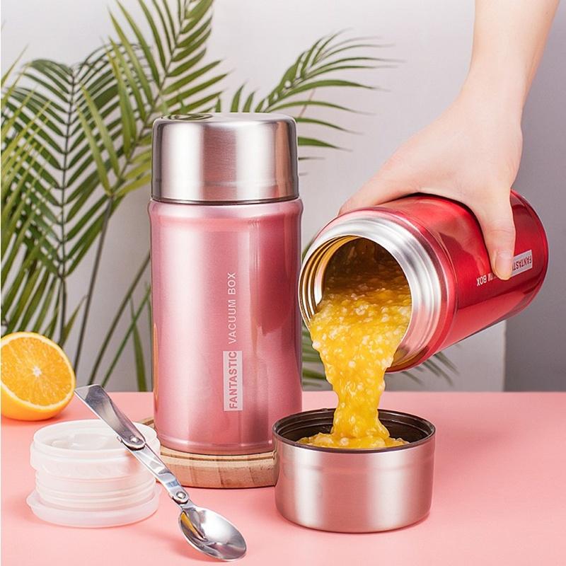 焖粥不锈钢焖烧壶超长保温饭盒闷烧罐汤壶桶焖壶便携1人。