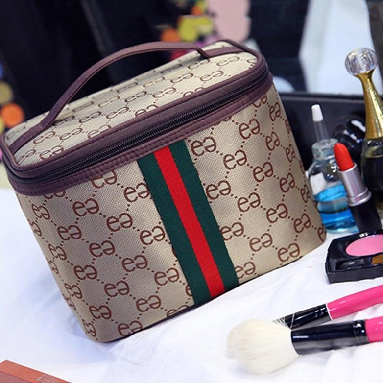 【第二件15】手提化妆包韩版大容量收纳包旅行双e简约洗漱包