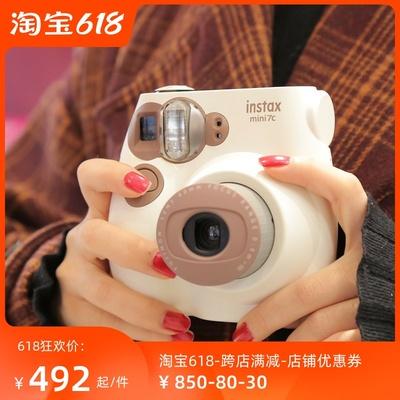 拍立得相机Fujifilm富士instax mini7S/7C咖啡色mini7+套餐含相纸