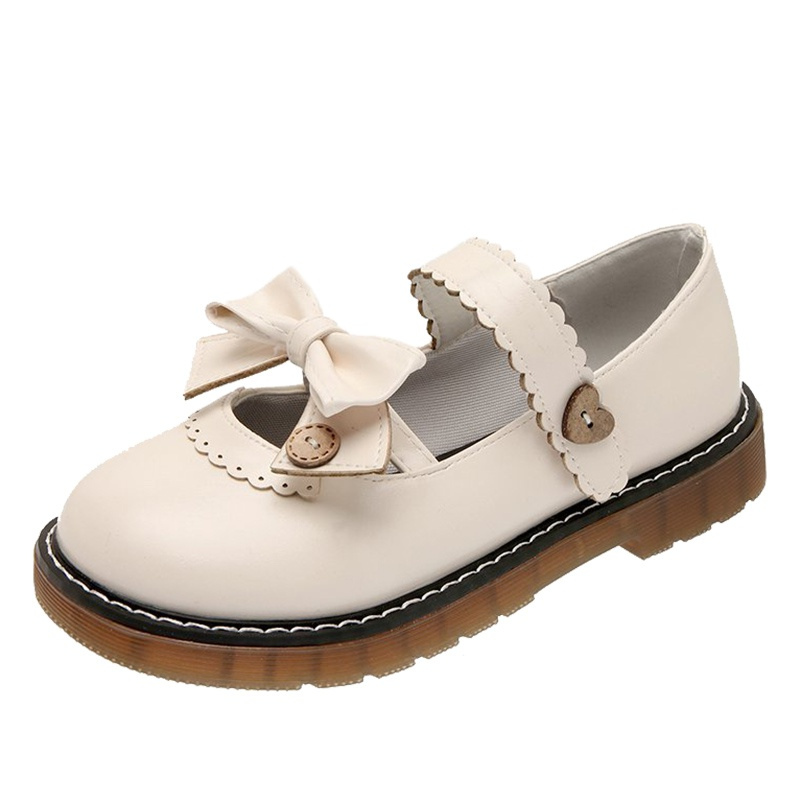 /White Retro Mary Jane small leather shoes womens summer 2021 spring and autumn new Lolita with skirt and Japanese JK shoes