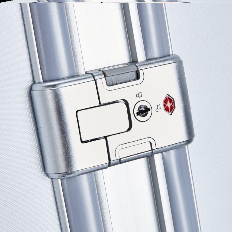 拉杆箱锁配件扣锁行李箱上的锁子卡扣式铝框锁扣钥匙款旅行皮箱