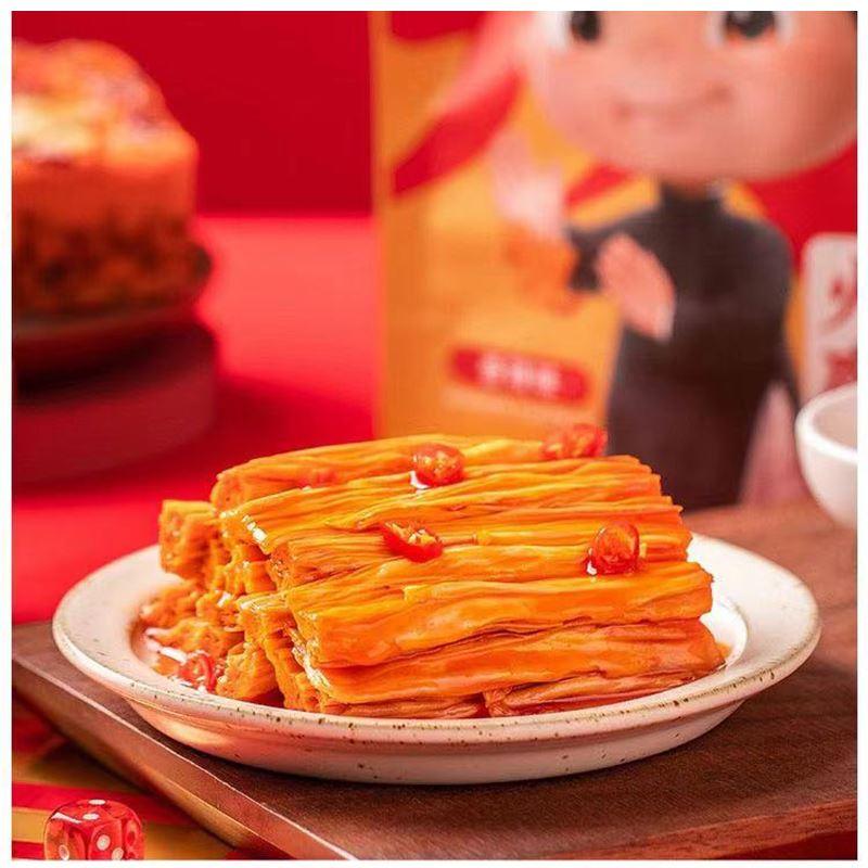 王小卤香辣味火锅腐竹105g网红卤味素食休闲独立装零食即食豆皮干