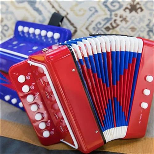 男の子の女の子の子供の小さいアコーディオンの初心者の音楽のおもちゃはH 2器-3歳の入門の誕生日の贈り物が備えるのは早いです。