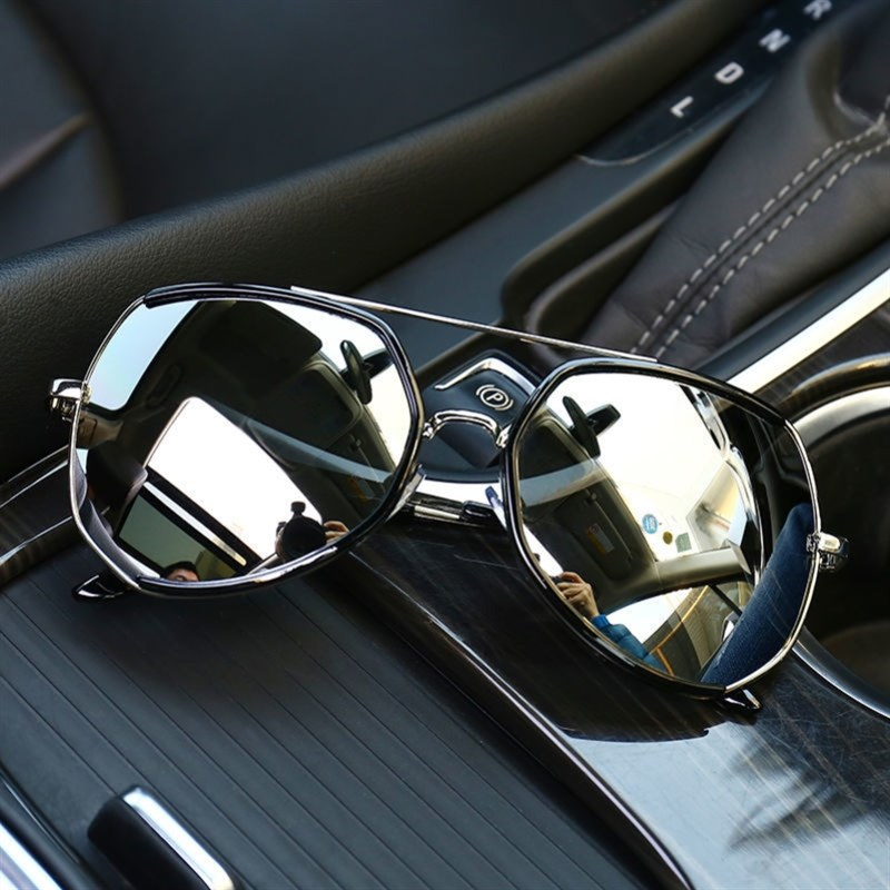 Large Sunglasses large face Sunglasses trendy mens driving mirror large frame polarized m toad mirror special display for driving